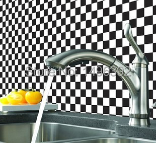 Hot Sale Magic Fix Bathroom Mosaic Tile Bathroom Wall Stickers Wallpaper Water Oil Sticker Kitchen Home Decoration Wall Decal(China (Mainland))