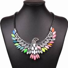 2014 New Fashion Lady's Alloying Galaxy Eagle Pendant Necklace Women Club Statement Jewlery Accessories Gift
