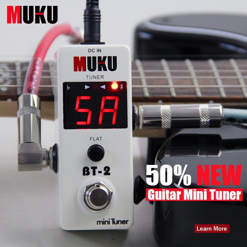 NEW Effect Guitar Pedal tuner/MINI TUNER Electric or Electro-acoustic instruments/bass 108 high brightness LED's(China (Mainland))