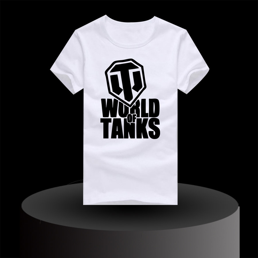 Hot World Tanks Brand Male Designer Shirts Popular Cool Pattern Print Boys Sports Shirt Round Neck Short Sleeve Tee Shirts(China (Mainland))
