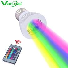3W E27 E14 GU10 RGB LED Bulb Spotlight Colorful Light 16 Color Change AC110V 220V with 24Key IR Remote Controller LED Lamp(China (Mainland))