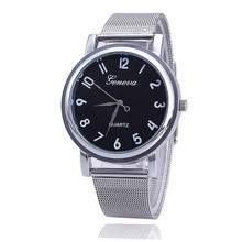 2016 TOP New Style Geneva Watch Silver Band Women Wristwatch Quartz Watches Casual relogio feminino