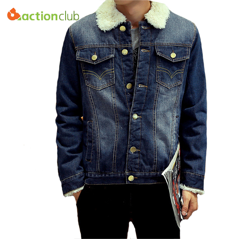 Hot Sale Men Denim Jacket Winter Men Jackets Plus Thick Velvet Denim Jacket Casual Jacket Men Outwear Coat Man's Jeans Clothing(China (Mainland))