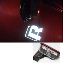 LED Door Warning Light VW Logo Projector Passat B6 B7 CC Golf 6 7 Jetta MK5 MK6 Tiguan Scirocco Harness - zheng sa we store