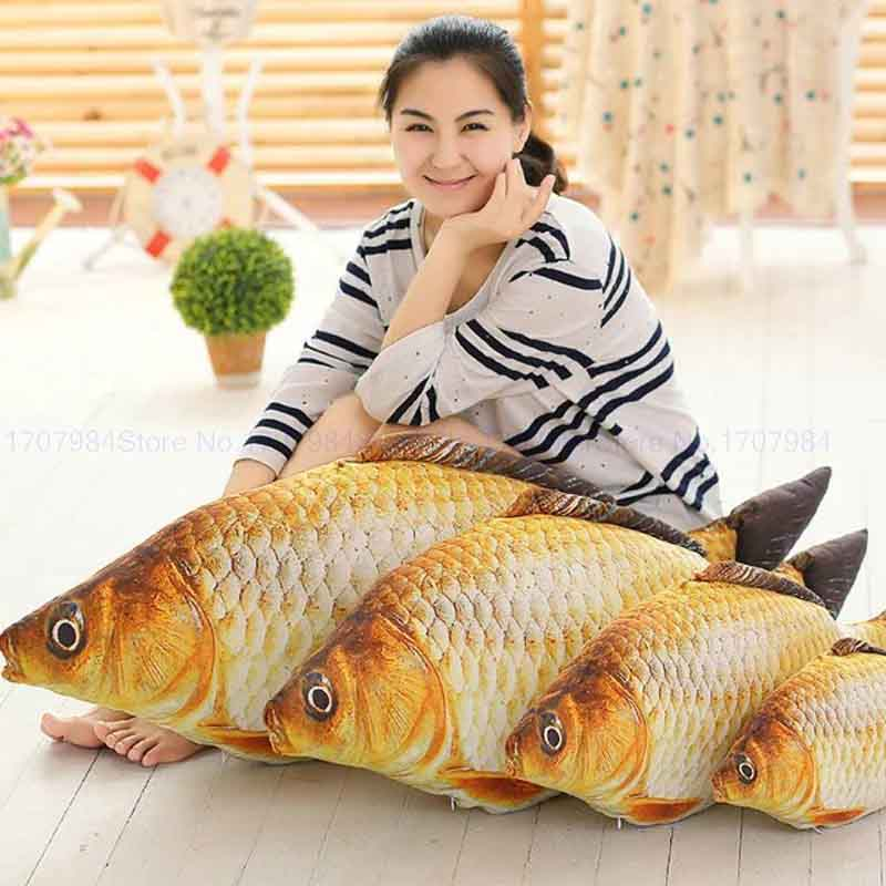 60/80cm Cute new Style Fish plush toys Stuffed plush doll Fish cloth doll Christmas present Children Toys(China (Mainland))