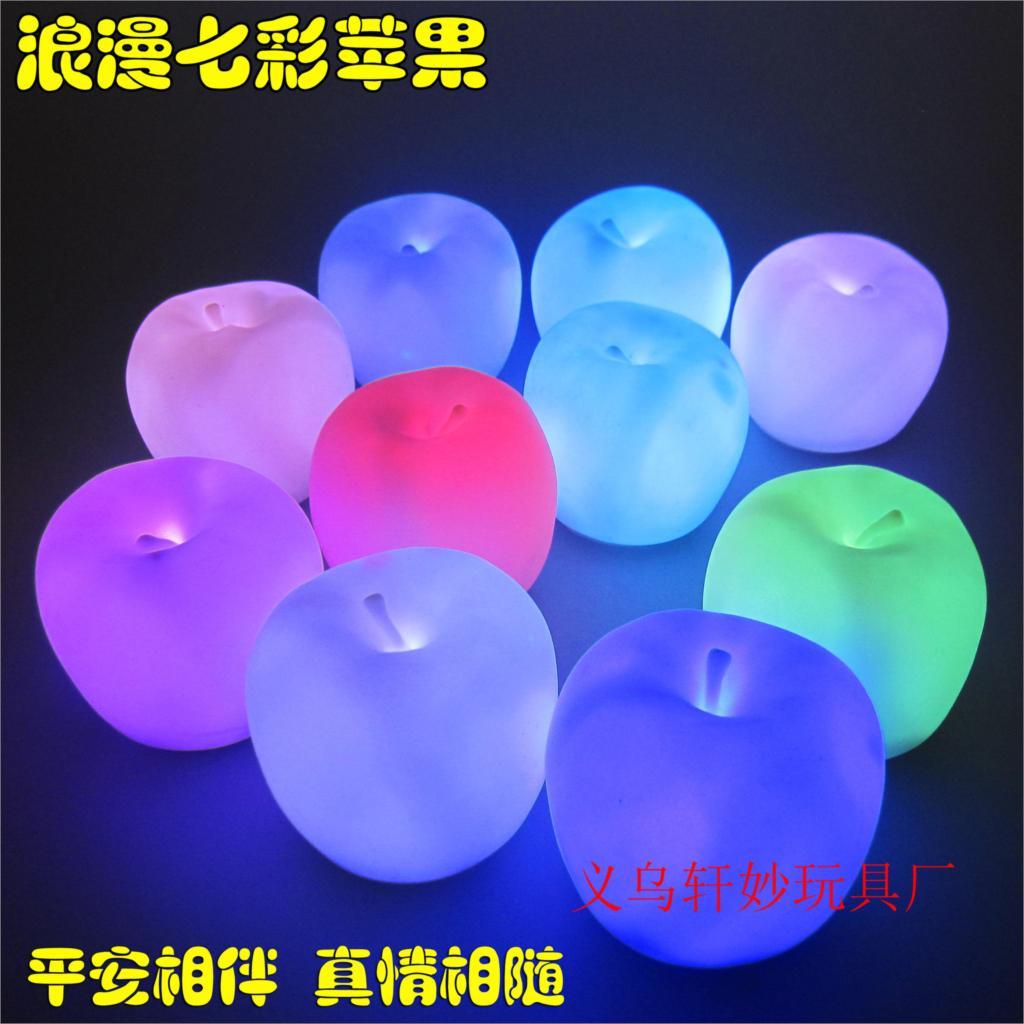 10pcs Colorful lights flash emulation apple color night light Christmas Eve gift(China (Mainland))