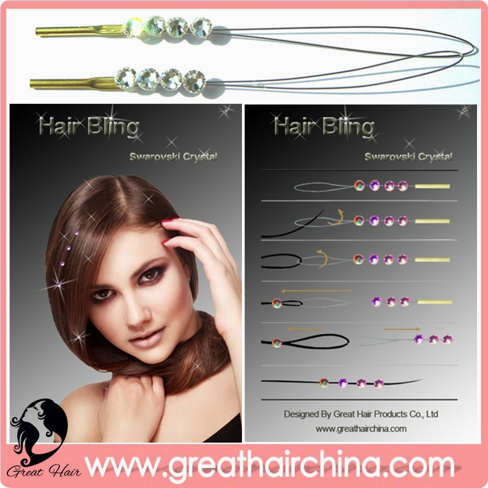 Buy Weaving Wig Cap & Hair Net will get a gift Popular Hair Extension Jewelry Bling 8 Colors 70 packs FREE SHIPPING(China (Mainland))