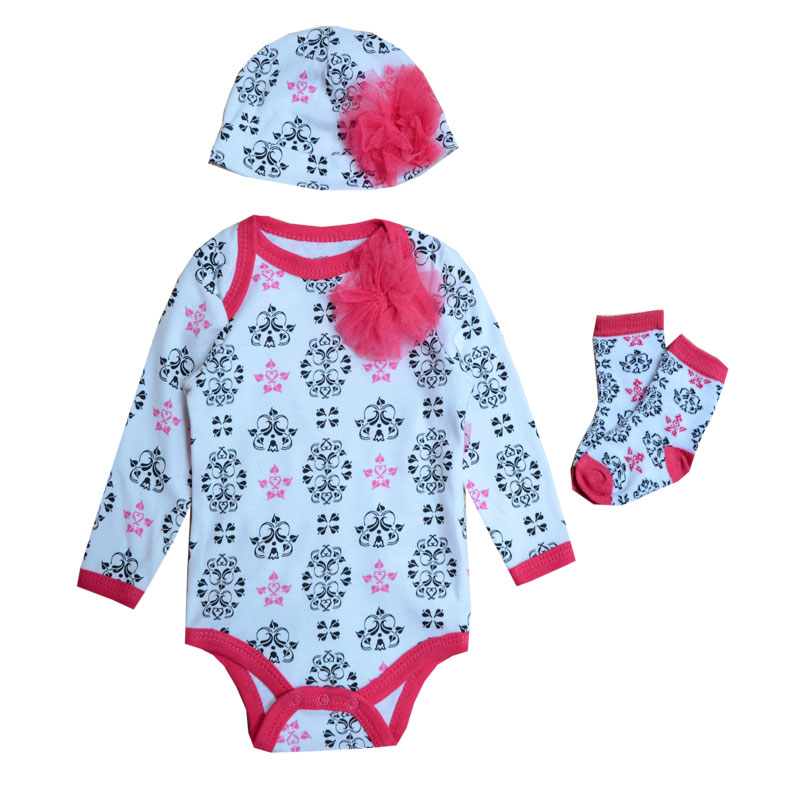 2016 New Baby Boy Girls Clothing Sets Dress Vestido Baby Cothes Bodysuit Clothes For Baby Girl Brand Infant Clothing Set(China (Mainland))