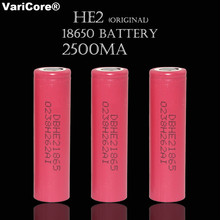 Buy 3 pcs / Lot Original 18650 3.7V 2500 mAh Power Battery ICR18650 HE2 battery 35A Discharge Cells industrial use for $10.68 in AliExpress store