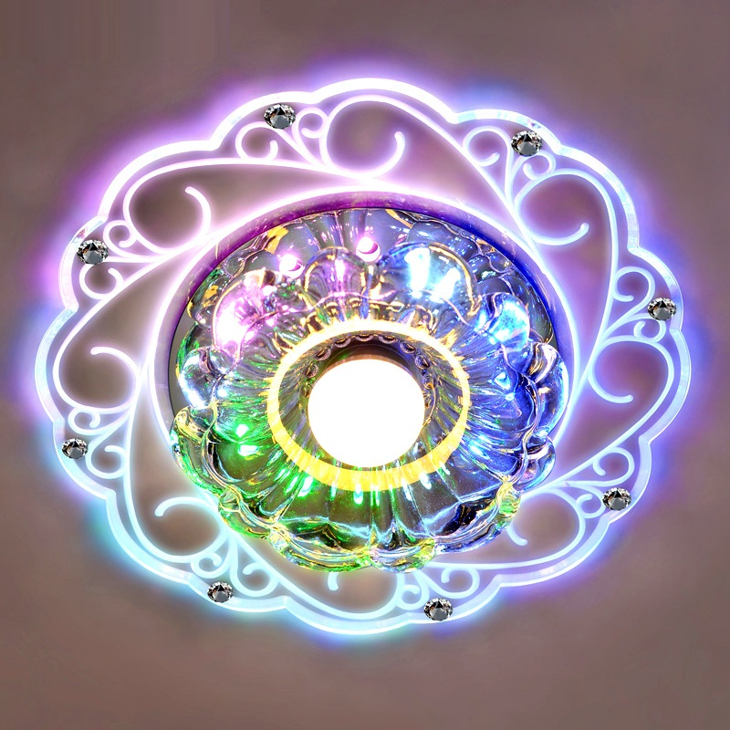 Luxury flower modern led ceiling light with glass for Moderne led deckenlampen