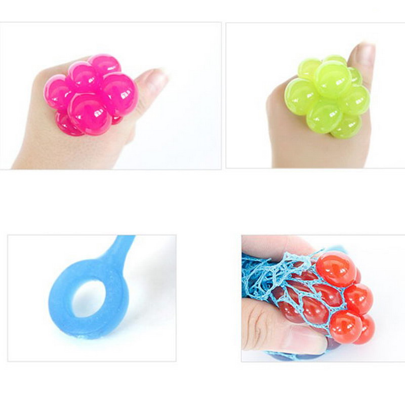 Novelty Squeezing Children Baby Toys Stress Relief Squeeze Ball Venting Ball Grape for Kids Girl Birthday Gifts Toy VBK65P50(China (Mainland))