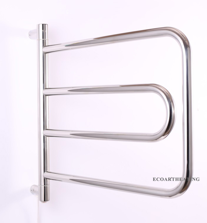 40W Electric Heated Towel Rack Rail Warmer Round Curved Shape Bar China  Mainland  Popular Heating. Heating Towel Rack