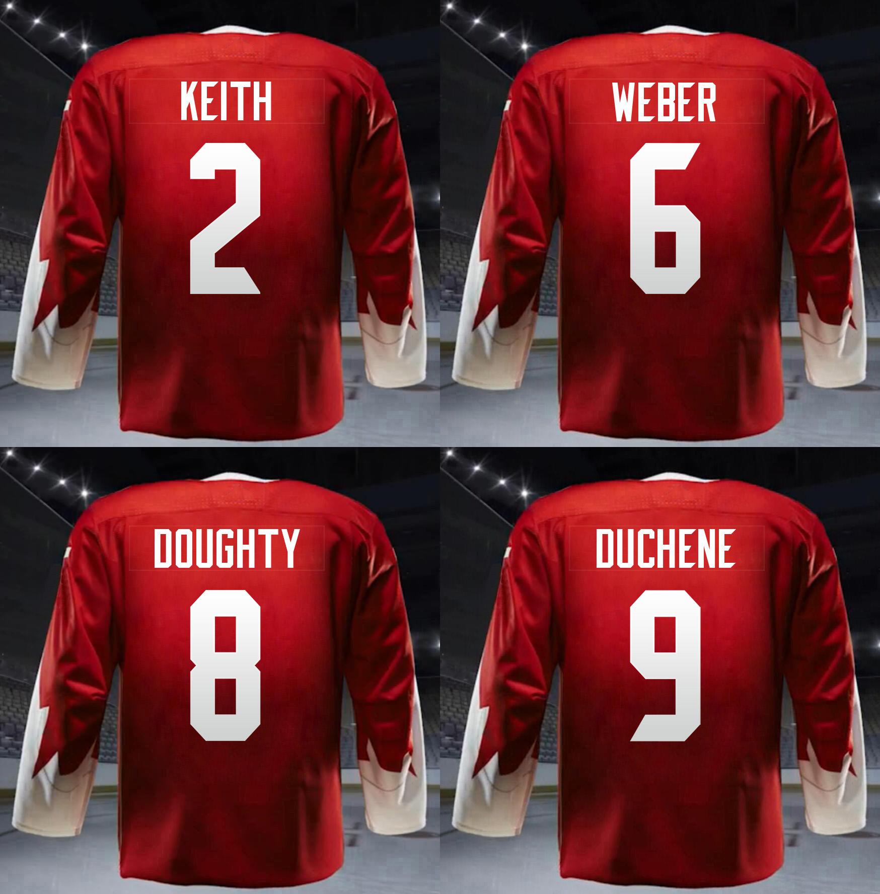 2016 WCH Duncan Keith,Shea Weber,Drew Doughty,Matt Duchene Jersey Stitched Canada Jersey(China (Mainland))