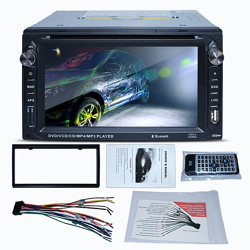 "Double DIN 2 Din 6.2"" In dash Car Stereo CD DVD Player FM Stereo Radio Receiver USB Port and SD Card Slot Bluetooth(China (Mainland))"