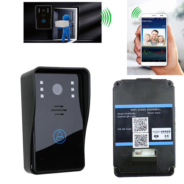 Wireless WiFi Video Door Doorbell Intercom System for mobile phone IOS Android App IR Night Vision Door Ring Remote Controller<br><br>Aliexpress