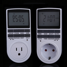 EU Plug Portable Plug-in Digital Timer 24h 7day Week with LCD Display for Indoor Appliance Lights/TV/PC/Fans/Kitchen(China (Mainland))
