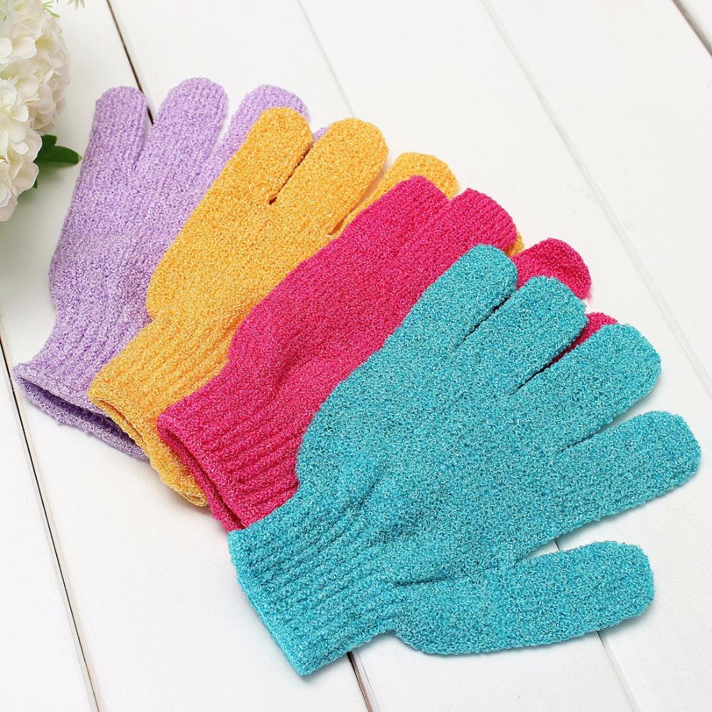 Cute 1pc Scrubber Skid Resistance Body Massage Exfoliating Sponge Gloves Shower Exfoliating Bath Accessories Gloves