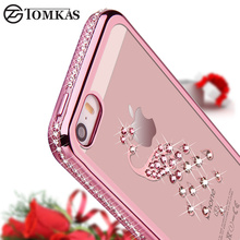 Buy 5S Luxury Rhinestone Silicon Case iPhone 5S 5 SE Bling Diamond Phone Back Cover Soft Coque iPhone5 Phone 5 S Pink Gold for $2.53 in AliExpress store