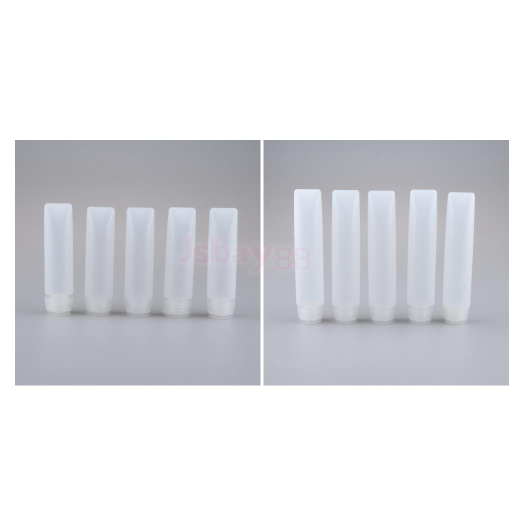 10pcs 50g 30g Clear Empty Refillable Plastic Squeeze Tubes Bottle Sample Bottles For Shampoo Cleanser Shower Gel Body Lotion