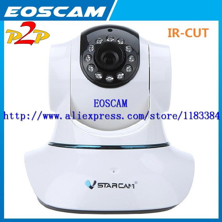 EU PLUG Vstarcam T6835WIP Plug&Play P2P IP Network Camera Wi-Fi Pan Tilt IR Cut Two Way Audio Micro SD Card Slot(China (Mainland))