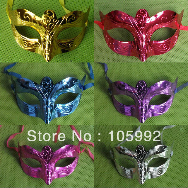 Retro Metal  Venice Carnival Mask PVC Roman gladiator children's party Halloween masks man woman children Masquerade mask(China (Mainland))