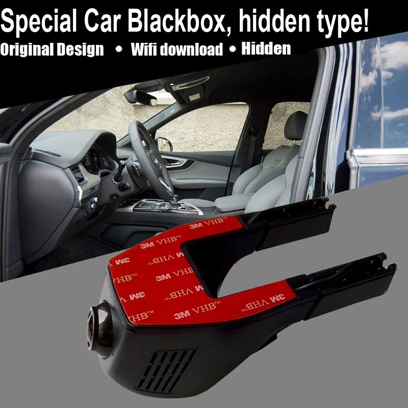 Hidden installation car blackbox 1080P HD video recording wifi connection applicable for all cars(China (Mainland))
