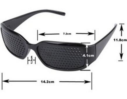 2X Free Shipping Cheap Black Unisex Vision Care Pin hole Eyeglasses Pinhole Glasses Eye Exercise Eyesight Improve plastic(China (Mainland))