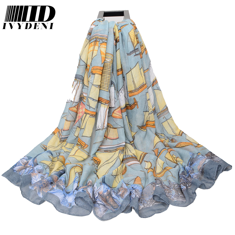 High Quality Luxury Brand Voile Cotton Spring Autumn Designer Scarf Women Shawls 2016 New Arrives Long Beach Cover Up Pareo(China (Mainland))