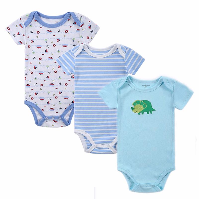 35PCS Baby Bodysuit 100%Cotton Infant Body Bebes Short Sleeves Clothing Jumpsuit Printed Baby Boy Girl Bodysuits Baby Clothing (9)