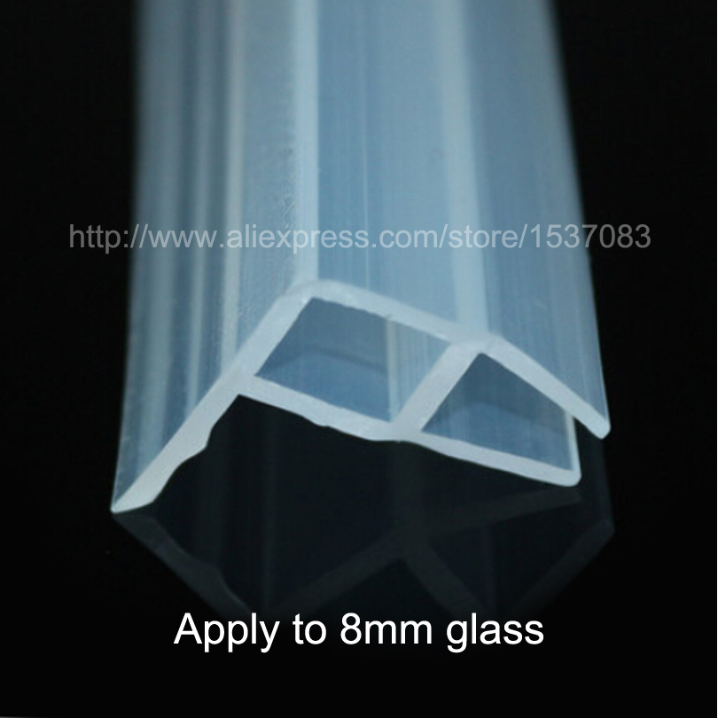 3 meters silicone rubber shower door window glass seal strip for 8mm thickness of glass(China (Mainland))