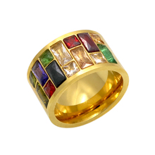 Buy Multicolor Crystal Ring Women anel 316L Stainless Steel Wedding Rings Female Rainbow Color Stone Ring anillo Fashion Jewelry for $4.91 in AliExpress store
