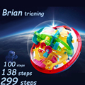 100 138 299 Steps Small Big Size 3D Labyrinth Magic Rolling Globe Ball Marble Puzzle Cubes