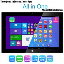 "11"" IPS 3G Windows Tablet PCs Dual OS GPS Bluetooth USB HDMI Wifi 5.0MP Quad Core Android 4.4+ Windows 8.1 Tablet 10(China (Mainland))"