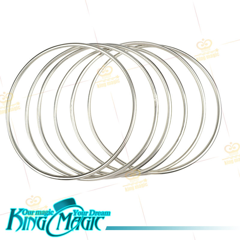 6 Linking Rings(Steel Pipe)-FREE SHIPPING-king magic trick/magia/magie<br><br>Aliexpress