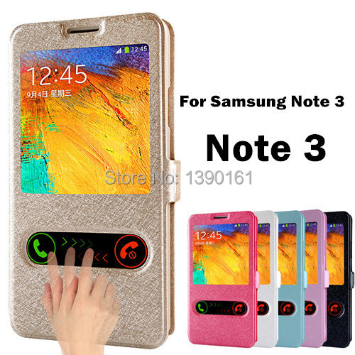 Luxury Note3 Silk Pattern Flip Cover Case For Samsung Galaxy Note 3 N9000 Case PU Leather Phone Bag With Stand Design Function(China (Mainland))