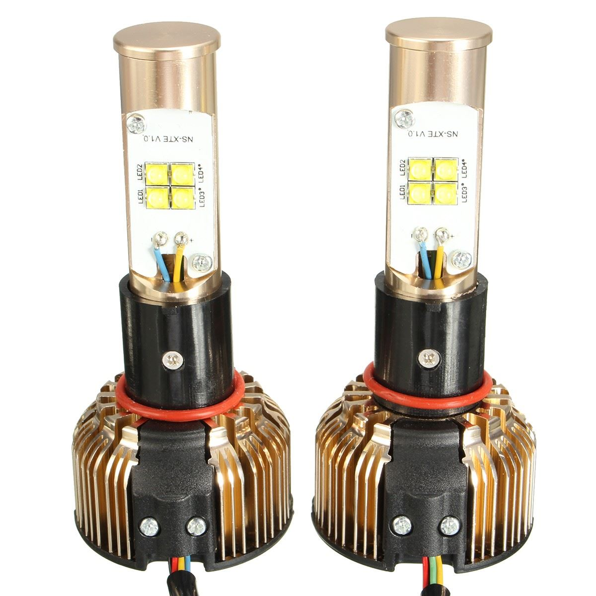 2015 New Pair 80W H4 XTE LED Hi/Lo Beam Headlight Kits 6000K 7680LM with Color Tube<br><br>Aliexpress