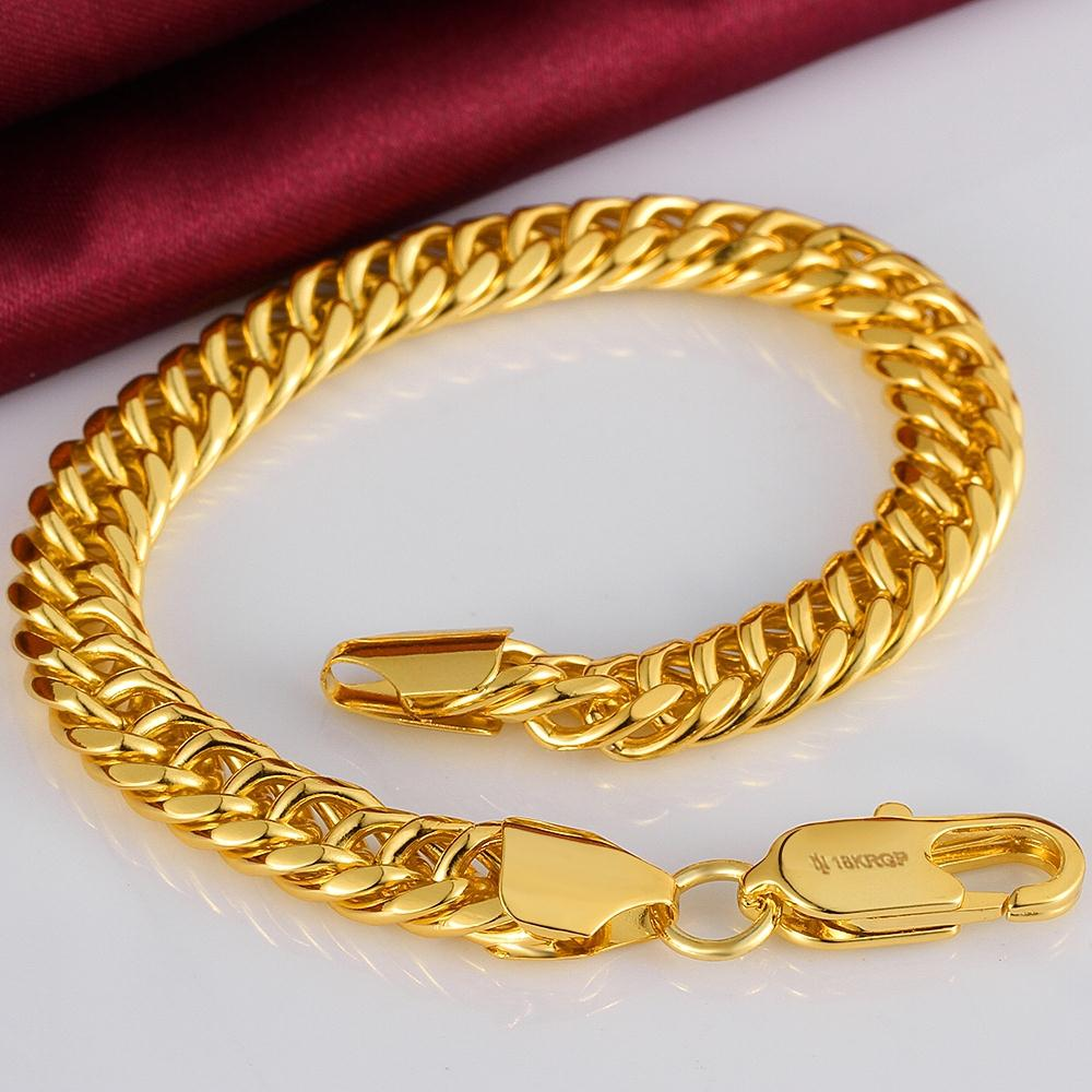 New style hot 18K Rose Gold Plated Plating Women Lady's Men's men male chain Link Bangle Bracelet Party friend gift box GPH107#(China (Mainland))