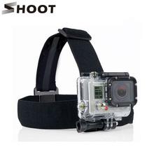 Buy SHOOT Black Elastic Head Strap Mount Gopro Hero 4 3 2 5 4 Session SJCAM SJ4000 SJ5000 Xiaoyi 4K Go pro Accessories for $2.80 in AliExpress store
