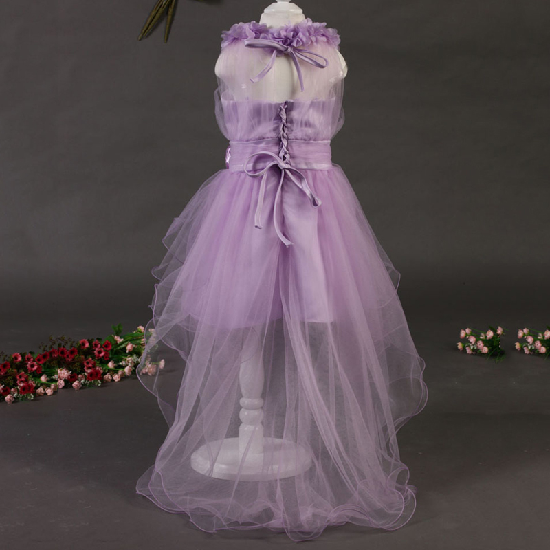 New style dress cute bowknot baby  princess dress high quality party kids bowknot dress flower lace edge customizable lyq036<br><br>Aliexpress