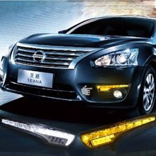 Free shipping Car styling Exact Fit Altima Switchback LED Daytime Running Lights Turn Signal Lamps