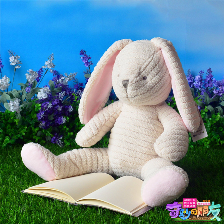 Soft Rabbit Plush Toys Dolls Cute Loppy Eared Rabbit Stuffed Toys Soothing Toys For Baby Gifts(China (Mainland))