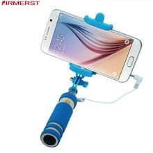 Extendable portable camera pole para selfie stick monopod tripod smartphone photo taking holder with cable