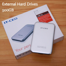 "Free shipping 2.5"" Slim Portable HDD 500GB Original IT-CEO USB2.0 External Hard Drives Storage Disk Plug and Play On sale"