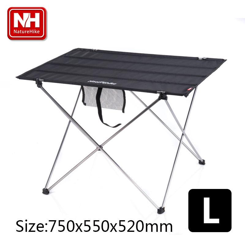 NatureHike-New L Size Multifunctional Light weight Portable Aluminium Alloy Outdoor Camping Folding Table(China (Mainland))