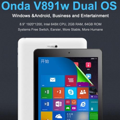 Original ONDA V891w Z3735F X86 64Bit Quad Core 2GB 64GB 8 9 IPS Windows 8 1