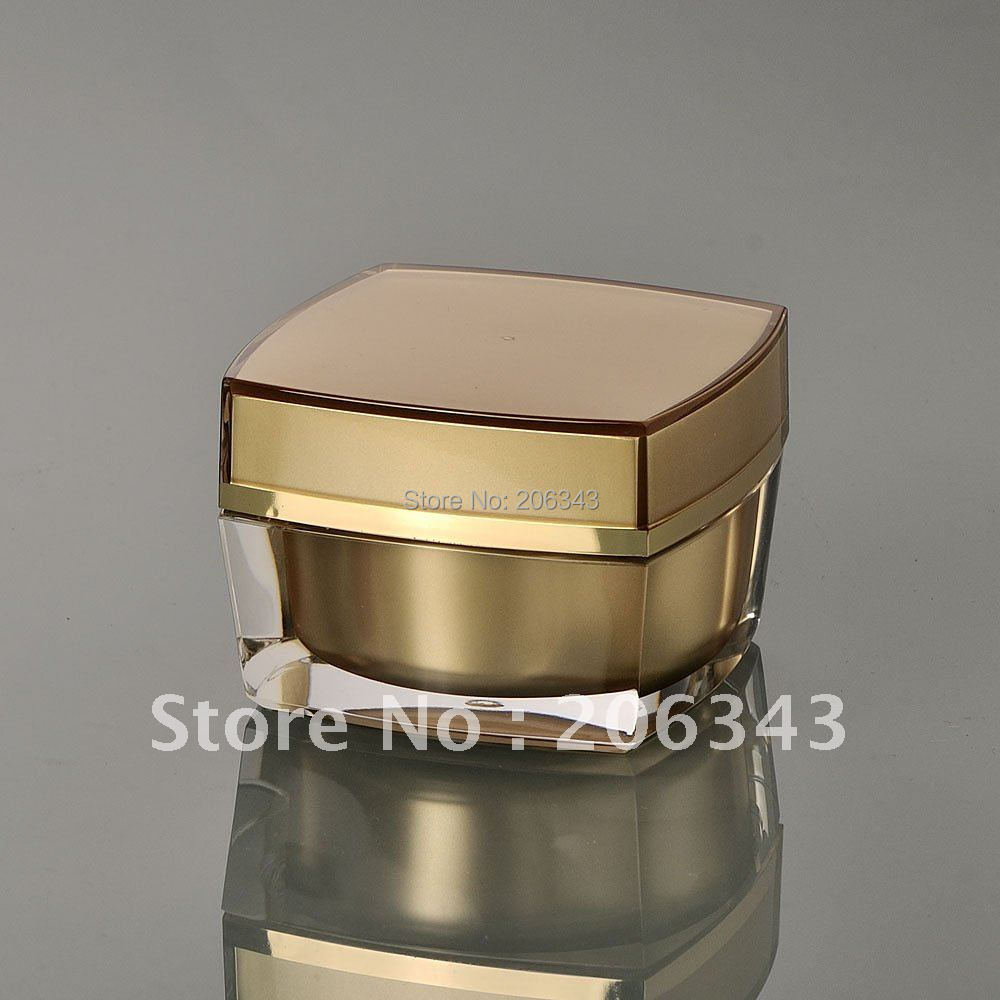 Здесь можно купить  30G gold acrylic square shape cream bottle,cosmetic container,,cream jar,Cosmetic Jar,Cosmetic Packaging 30G gold acrylic square shape cream bottle,cosmetic container,,cream jar,Cosmetic Jar,Cosmetic Packaging Красота и здоровье
