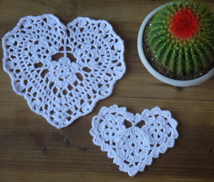 Free Crochet Pattern For Heart Doily : Aliexpress.com : Buy Crochet Doily Valentines Day gif Cup ...