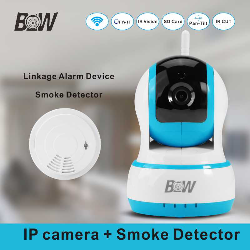 wifi camera cctv system smoke detector 720p hd mini onvif ip surveillance ptz 2 way audio. Black Bedroom Furniture Sets. Home Design Ideas