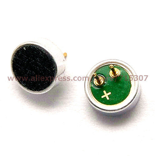 10pcs 6*2.2/ 6x2.2mm capacitive/ electret mic/ pickup/ MP3 accessories microphone free shipping(China (Mainland))