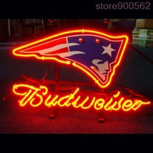 """MN36 ENGLAND PATRIOT BUDWEISER GLASS TUBE beer bar neon signs 17""""x14"""" for indoor/ outdoor display/party lights/advertising/art.(China (Mainland))"""